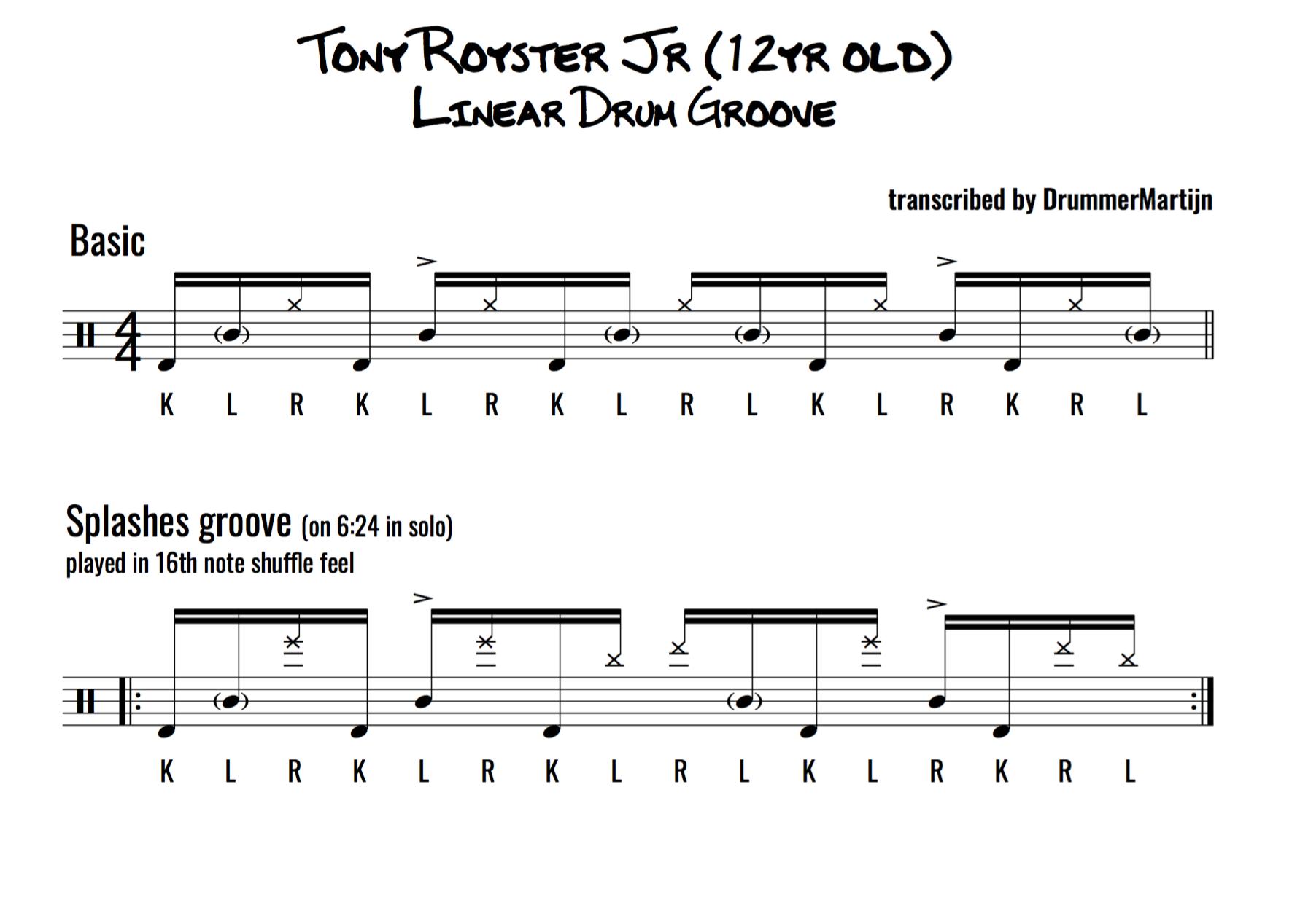 FREE drum transcriptions | DrummerMartijn